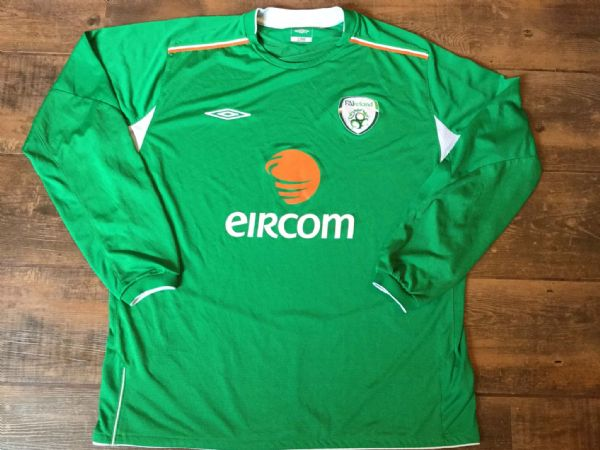 2004 2006 Republic of Ireland L/s Football Shirt Adults XL